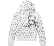 Printed Loopback Cotton-Jersey Hoodie