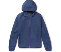 Rain-system Stretch-shell Hooded Jacket