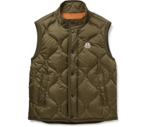 Canut Quilted Shell Down Gilet - Green