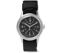Mk1 Stainless Steel And Nylon-webbing Watch - Black