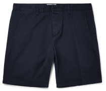 Slim-fit Cotton-twill Bermuda Shorts - Navy