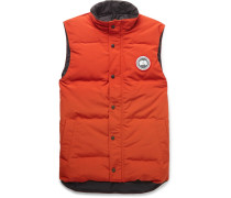 Garson Slim-fit Quilted Shell Down Gilet - Orange