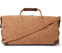 Leather-Trimmed Nubuck Holdall