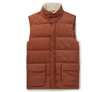 Storm System Quilted Shell Hooded Gilet