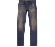 The Cast 2 Skinny-fit Distressed Stretch-denim Jeans - Dark denim