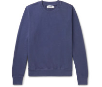 Garment-Dyed Loopback Cotton-Jersey Sweatshirt