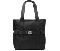 Logo-detailed Nylon Tote Bag - Black