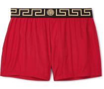 Slim-fit Short-length Swim Shorts - Red