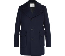 Scott Slim-fit Virgin Wool-blend Overcoat - Blue