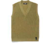 Waffle-Knit Cashmere Sweater Vest