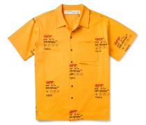 Logo-Print Cotton Shirt