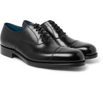 Gresham Cap-toe Leather Oxford Shoes - Black