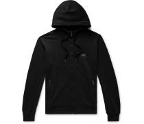 Loopback Cotton-Jersey Zip-Up Hoodie
