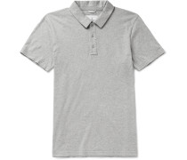 Slim-Fit Mélange Pima Cotton-Jersey Polo Shirt