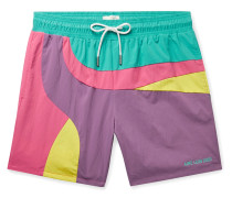 Logo-Embroidered Colour-Block Swim Shorts
