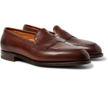 Piccadilly Leather Penny Loafers - Brown