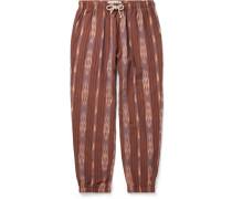 Jeffrey Slim-Fit Cotton-Jacquard Drawstring Trousers