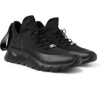 Coated-mesh High-top Sneakers