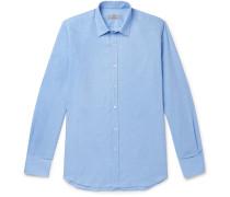 Blue Cotton and Cashmere-Blend Shirt