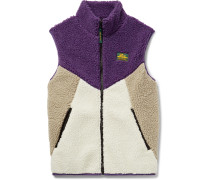 Colour-Block Fleece Gilet