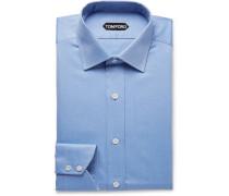 Light-blue Slim-fit Cotton-twill Shirt