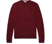 Textured Mélange Wool Sweater