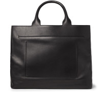 Cabas Ego Leather Tote Bag - Black
