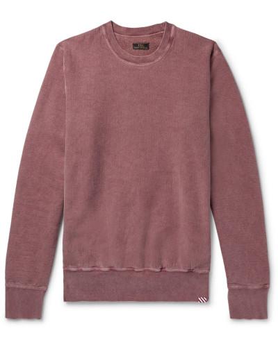 Garment-dyed Fleece-back Cotton-jersey Sweatshirt
