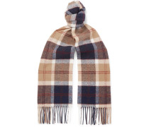 + Johnstons Of Elgin Fringed Checked Wool Scarf