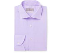 Light-Pink Slim-Fit Cotton-Poplin Shirt