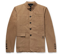 Stretch-cotton Twill Jacket With Detachable Gilet - Sand