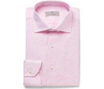 Light-pink Slub Linen Shirt - Pink