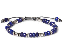 Templar Sterling Silver And Lapis Bracelet