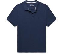 Cotton-piqué Polo Shirt - Navy