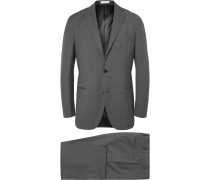 Grey Slim-fit Virgin Wool Suit - Gray