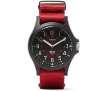 Acadia Resin And Grosgrain  Watch - Red