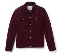 Sea Island Cotton-corduroy Padded Trucker Jacket
