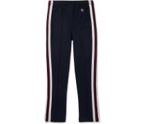 Slim-fit Tapered Webbing-trimmed Jersey Sweatpants