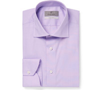 Purple End-on-end Cotton Shirt - Purple