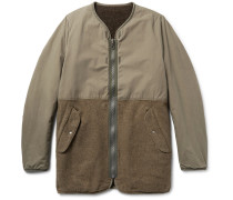 Longliner Reversible Cotton-canvas And Wool-blend Jacket