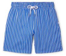 Bondi 1 Slim-Fit Mid-Length Striped Swim Shorts
