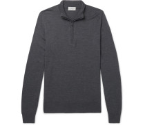 Tapton Slim-fit Merino Wool Half-zip Sweater - Charcoal