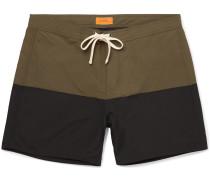 Ennis Mid-Length Colour-Block Swim Shorts