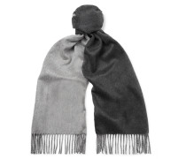 Reversible Fringed Cashmere Scarf
