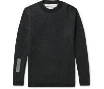 Oversized Logo-intarsia Sweater - Black