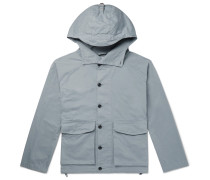 Cotton-twill Hooded Parka - Blue