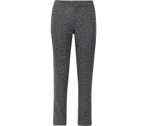 Grey Sutton Slim-Fit Prince of Wales Checked Wool-Blend Trousers