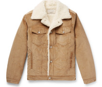 Faux Shearling-lined Cotton-corduroy Jacket - Camel