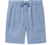 Slim-fit Linen And Cotton-blend Drawstring Shorts