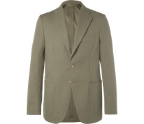 Green Easyday Cotton-canvas Suit Jacket - Green